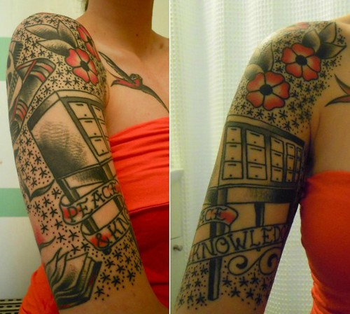 Card catalog tattoo1