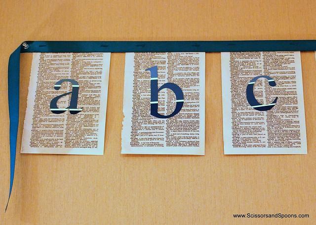 DIY Alphabet Banner