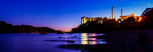 blue sunset panorama reflection rocks bangor maine penobscotriver easternmainemedicalcenter