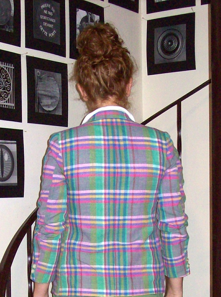 Madras jacket back