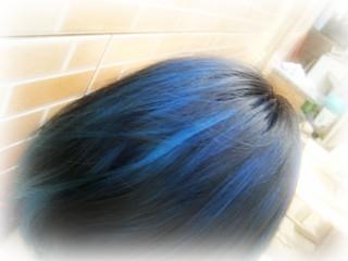 ...cabelo azul!