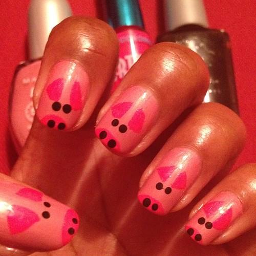 Piggy nails!!!