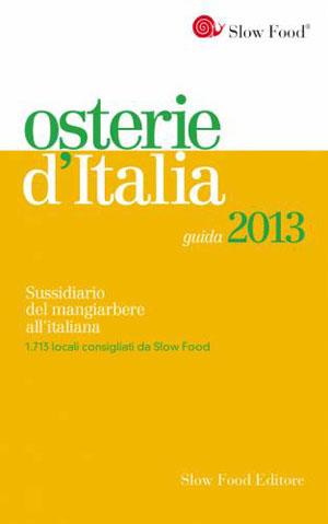 La copertina di Osterie d'Italia 2013