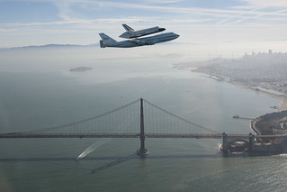 Endeavour Over The Golden Gate Bridge (ED12-0317-009)