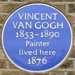 Photo of Vincent Van Gogh blue plaque