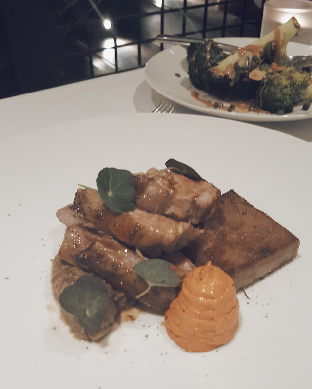 Herdwick lamb rump, braised lamb belly, piquillo & sumac crème fraîche, smoked aubergine