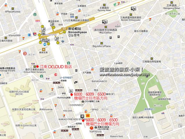 江南OCLOUD飯店地圖