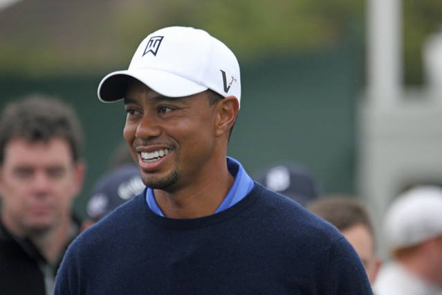 Tiger Woods smiling | Flickr - Photo Sharing!