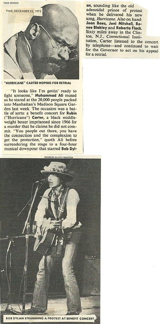 12/22/75 Time Magazine (Rubin 'Huricane' Carter Benefit Concert, NYC)