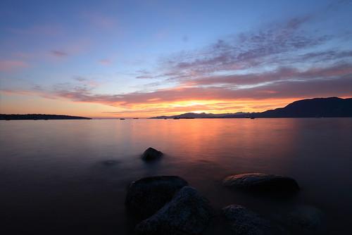 sunset sky cloud canada beach vancouver