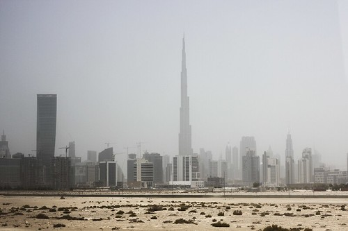 Dubai's skyline from the outskirts