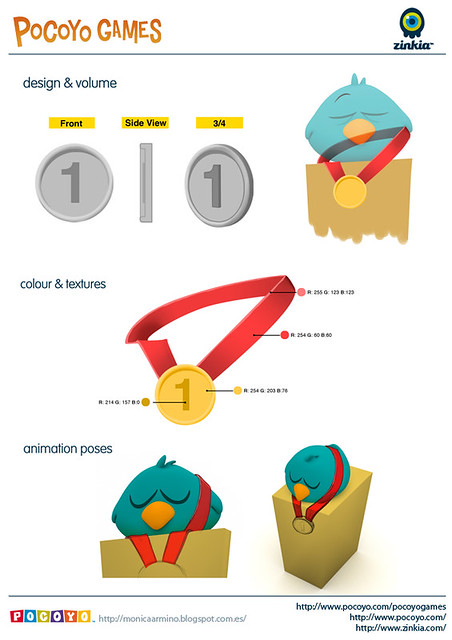 Pocoyo Games 2012 Medal one