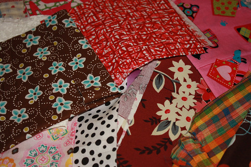 Big Box of Scraps Fabric Haul