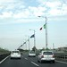 Flags on the autostrada