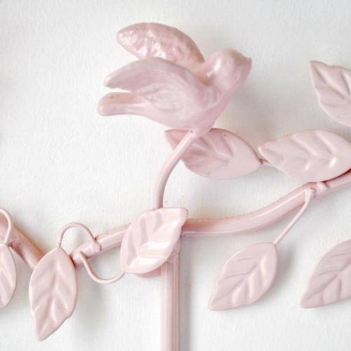 Pink metal bird hooks