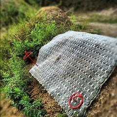カバー導入。背中側に端を農業用のペグで固定。#trails #bmx #dig