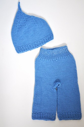 Sky Blue Gnomey-Oh and Pants Set