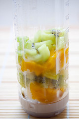Kiwi Mango Soya Milk Smoothie