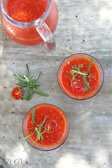 Soupe tomates rôties
