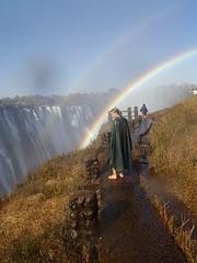 Sandra at Victoria Falls