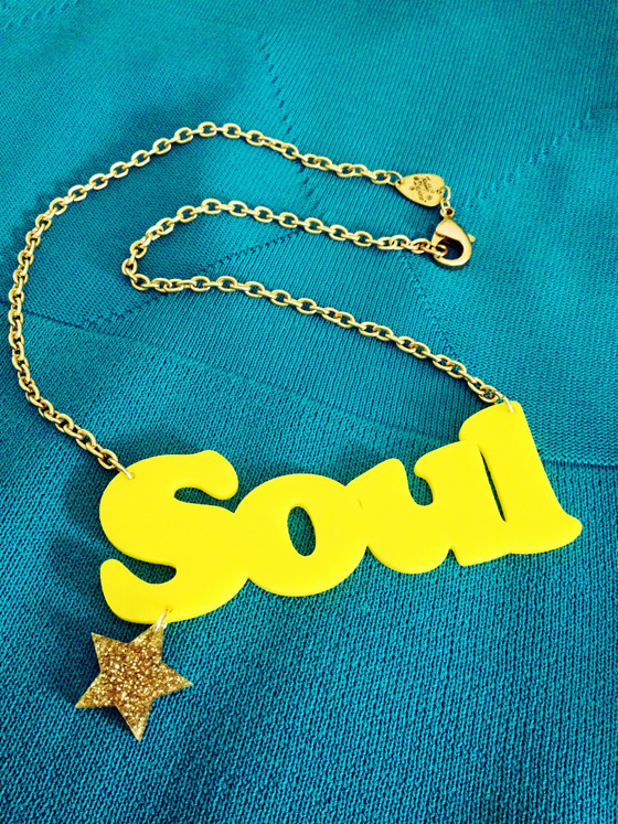 Jewelry by Tatty Devine, image via ILoveSoul.tumblr