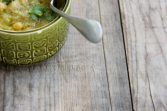 chickpea + leek soup