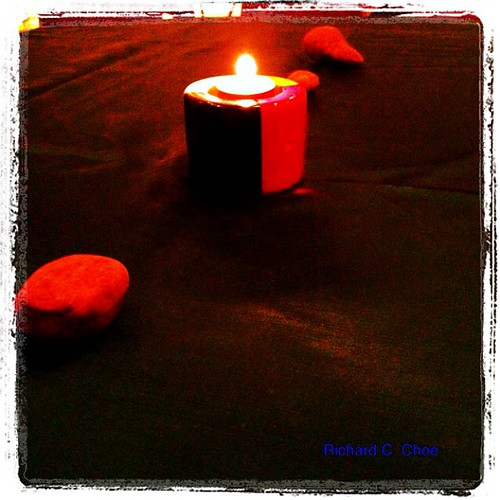 Candle and Stones 1 by rchoephoto