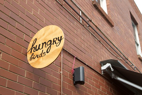 Hungry Birds sign