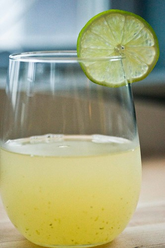 jalapeno tequila gimlet with lime