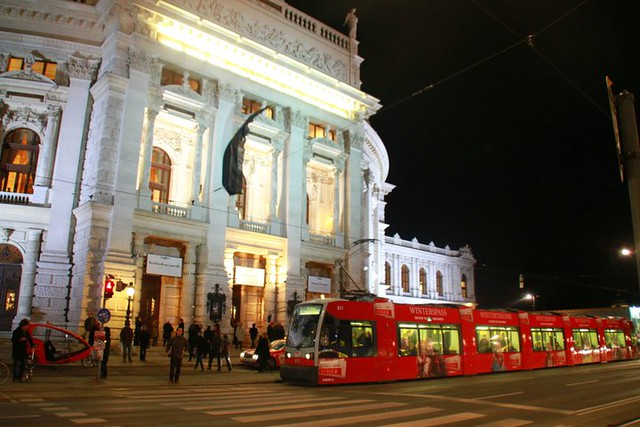 winterspass, burgtheater, red tram, vienna