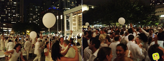 diner en blanc NYC 2012 under the night sky