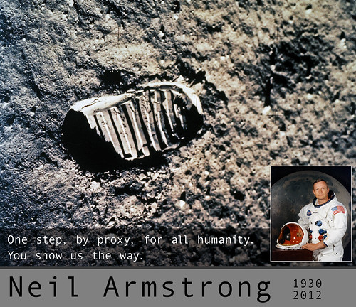 "Neil Armstrong, 1930 - 2012"" by aforgrave, on Flickr"