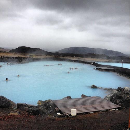 Me acabo de bañar aquí. En el exterior, 8° #iceland #islandia #tripiniceland