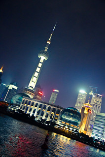Oriental Pearl Tower, on the banks of Huangpu River, Lujiazui