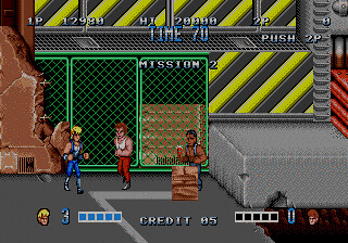 Genesis port of the arcade game