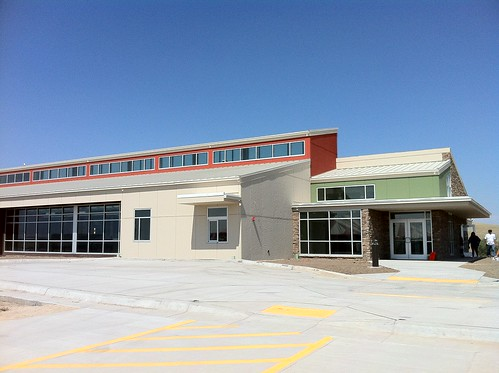 The  newly constructed Oglala Sioux Lakota Housing Authority administration building, built with USDA support.