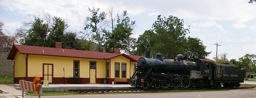usa oklahoma landscapes parks trains transportation northamerica museums duncan locomotives railroads americanhistory depots organizations oklahomacentennial waymarks municipalparks