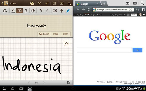 SNote dan browser internet