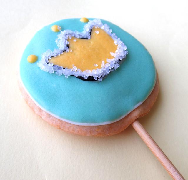 Cookies decorados com glace de leite em po