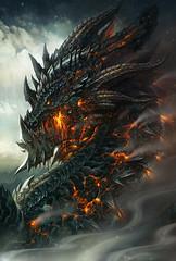 mythology, fictional character, dragon, flame,