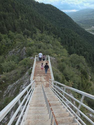 Valla Kanyonu kilátó lejárata