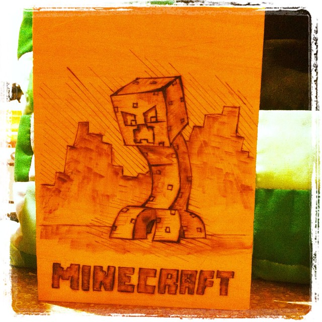Minecraft Woodburning