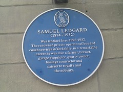 Photo of Samuel Ledgard blue plaque
