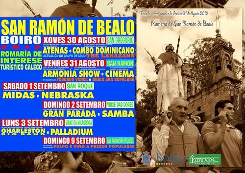 Boiro 2012 - Romaría de San Ramón de Bealo - cartel