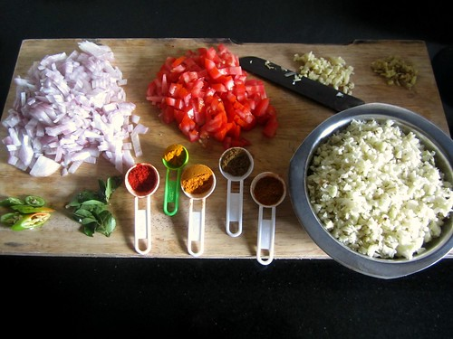 Cauliflower Masala Dosa-ingredients