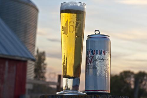Skunkworth's Barleyslime: Molson Canadian 67 by Cody La Bière