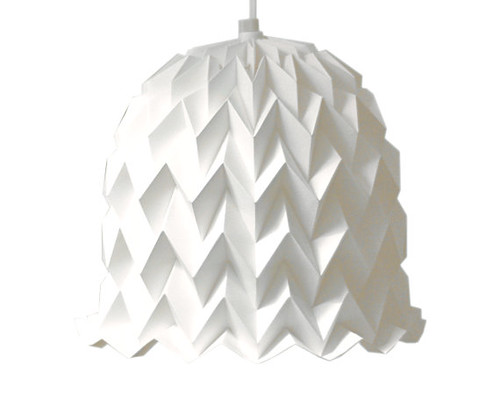 This bell lampshade is another lovely shape made with the same zigzag ...