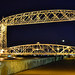 Small photo of Aerial Lift Bridge at night