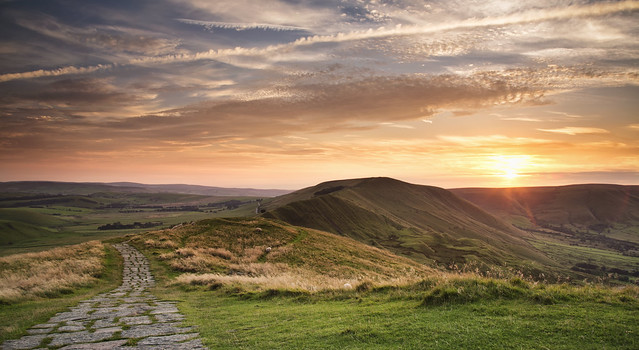 Sunset from Mam Tor