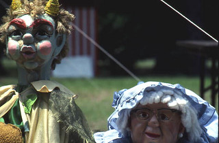 Puppets used by the Shoestring Puppet Theater of Jacksonville: White Springs, Florida